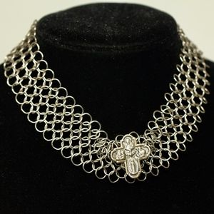 My Antique Cross Orly Baruch Chocker Necklace